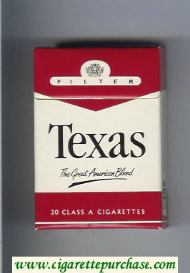 Texas The Great American Blend Filter cigarettes hard box