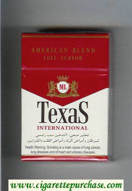 Texas International American Blend Full Flavor cigarettes hard box