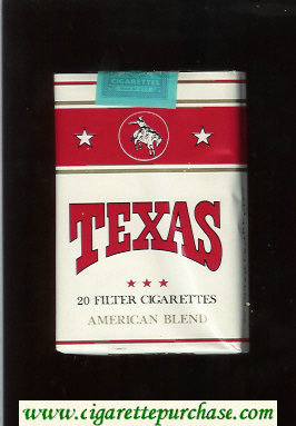 Texas American Blend cigarettes white and red soft box
