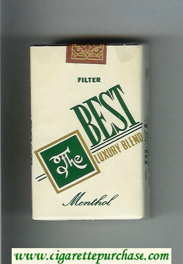 The Best Luxury Blend Menthol Filter cigarettes soft box