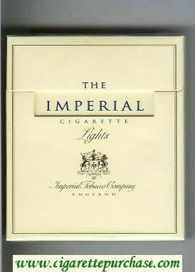 The Imperial 100s cigarettes Lights wide flat hard box