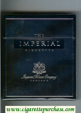 The Imperial 100s cigarettes wide flat hard box