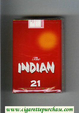 The Indian 21 cigarettes soft box