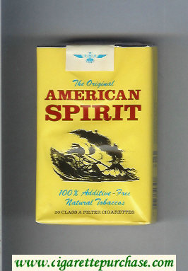 Discount The Original American Spirit cigarettes yellow soft box