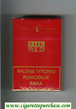 The Red Full Flavor cigarettes hard box