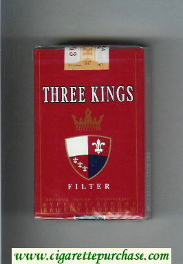 Three Kings Filter cigarettes red soft box