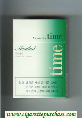 Time Humming Menthol cigarettes hard box