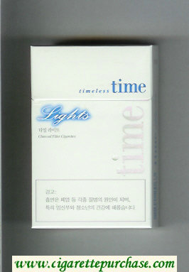Time Timeless Lights cigarettes hard box