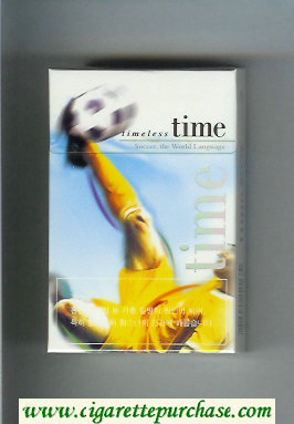 Time Timeless hard box cigarettes