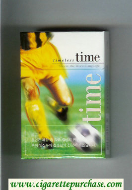 Time hard box Timeless cigarettes