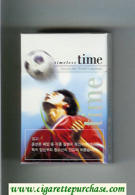 Time Timeless Soccer. The World Language hard box cigarettes