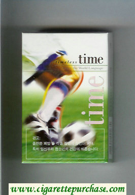 Time Timeless Soccer. The World Language cigarettes hard box