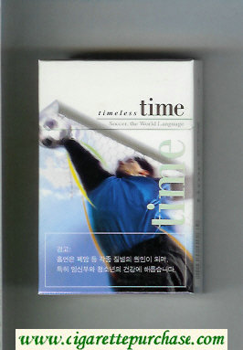 Time hard box Timeless Soccer. The World Language cigarettes