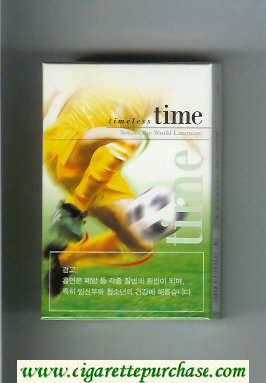 Time cigarettes Timeless Soccer. The World Language hard box