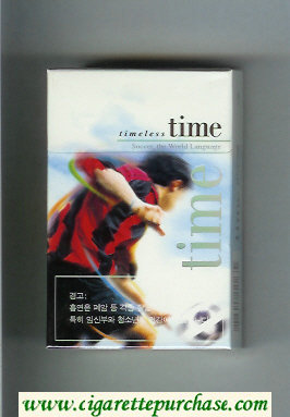 Time Timeless cigarettes Soccer. The World Language hard box
