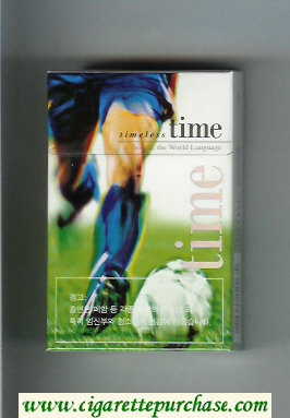 Time Timeless hard box Soccer. The World Language cigarettes