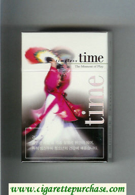 Time Timeless The Moment of Play hard box cigarettes