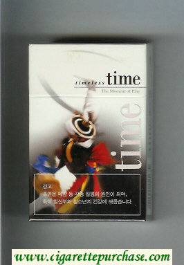 Time hard box Timeless The Moment of Play cigarettes