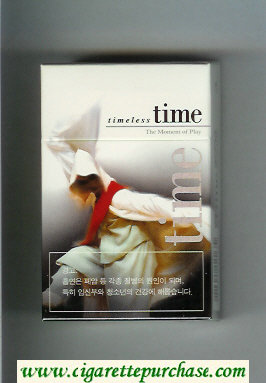 Time cigarettes hard box Timeless The Moment of Play