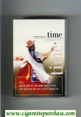 Discount Time hard box cigarettes Timeless The Moment of Play