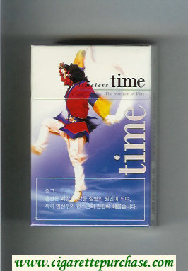 Time Timeless cigarettes hard box The Moment of Play
