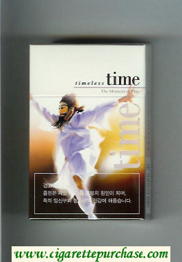 Time Timeless cigarettes The Moment of Play hard box