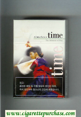 Time Timeless hard box The Moment of Play cigarettes
