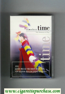 Discount Time Timeless The Moment of Play cigarettes hard box
