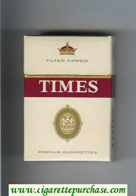 Times Filter Tipped cigarettes hard box