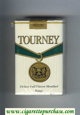 Discount Tourney Deluxe Full Flavor Menthol Kings Cigarettes soft box