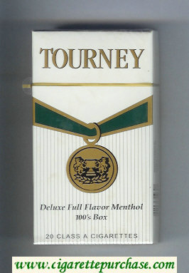 Discount Tourney Deluxe Full Flavor Menthol 100s Box Cigarettes hard box