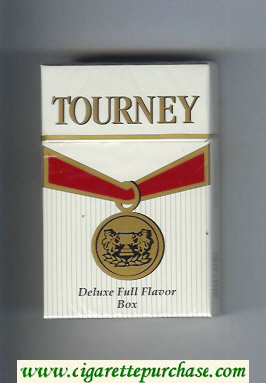 Tourney Deluxe Full Flavor Box Cigarettes hard box