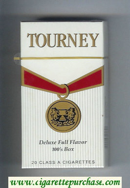 Tourney Deluxe Full Flavor 100s Box Cigarettes hard box