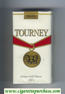 Tourney Deluxe Full Flavor 100s Cigarettes soft box