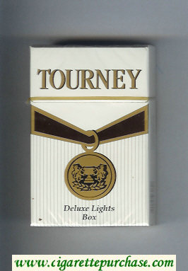 Tourney Deluxe Lights Cigarettes hard box
