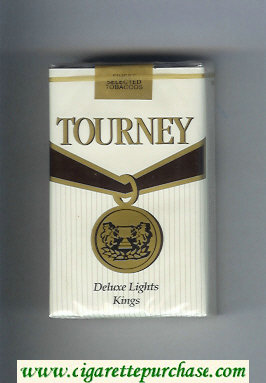 Discount Tourney Deluxe Lights Kings Cigarettes soft box