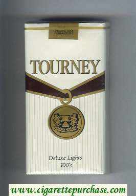 Tourney Deluxe Lights 100s Cigarettes soft box