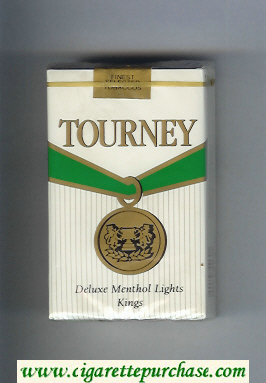 Discount Tourney Deluxe Menthol Lights Kings Cigarettes soft box