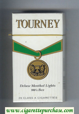 Discount Tourney Deluxe Menthol Lights 100s Box Cigarettes hard box