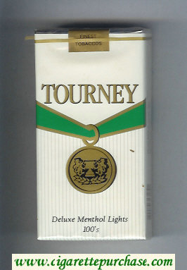 Discount Tourney Deluxe Menthol Lights 100s Cigarettes soft box