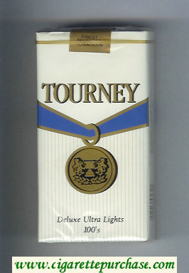 Discount Tourney Deluxe Ultra Lights 100s Cigarettes soft box