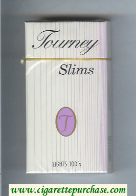Tourney Slims Lights 100s Cigarettes hard box