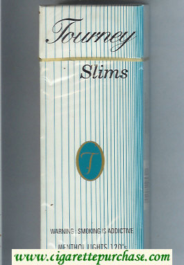 Tourney Slims Menthol Lights 120s Cigarettes hard box