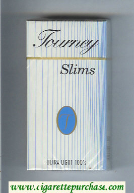 Tourney Slims Ultra Light 100s Cigarettes hard box