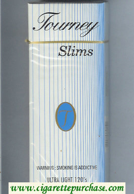 Tourney Slims Ultra Light 120s Cigarettes hard box