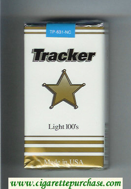 Tracker Light 100s Cigarettes soft box