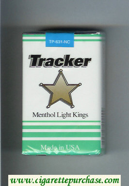 Tracker Menthol Light Kings Cigarettes soft box