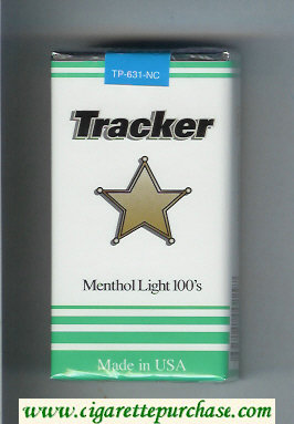 Tracker Menthol Light 100s Cigarettes soft box