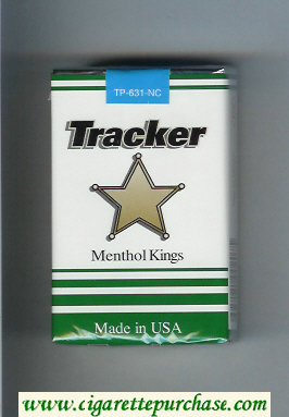 Tracker Menthol Kings Cigarettes soft box