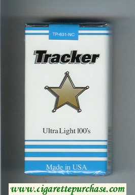 Tracker Ultra Light 100s Cigarettes soft box
